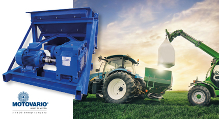 Production of fertilizers: why the PBZ parallel shaft gearbox by Motovario is the most dependable choice