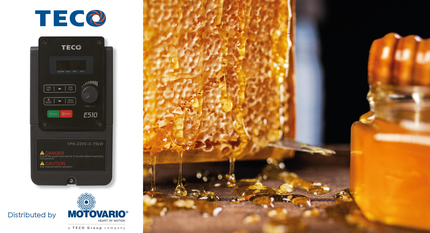 E510 inverters: the ideal solution for industrial honey extractors