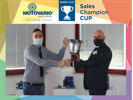 Motovario Sales Champions Cup – March 2021: the cup goes to Antonio Sonsini!