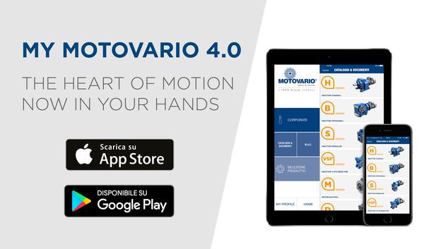 MyMotovario 4.0: la nuova APP MOTOVARIO disponibile per sistemi Ios e Android