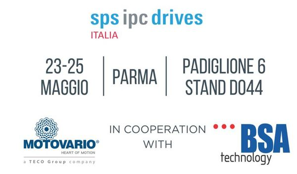 Motovario and Technology BSA at SPS IPC Drives:  Italian technology at the service of industrial automation
