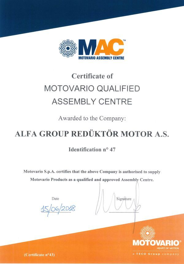 Alfa Group Reduktor becomes MAC, 15.06.2018