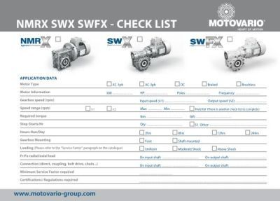 Product Check List NMRX SWX SWFX en ligne !