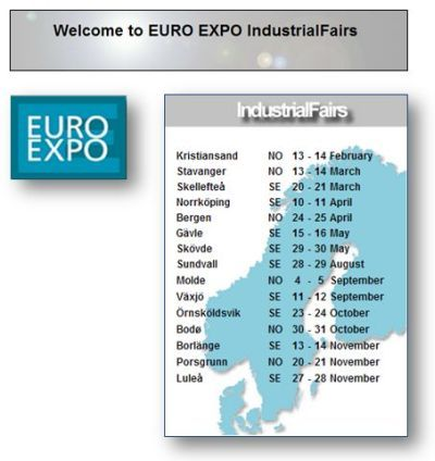JENS S Transmisjoner AS nimmt an der EURO EXPO IndustrialFairs teil
