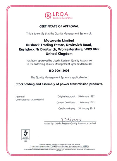The UK subsidiary renews its quality management system ISO 9001:2008