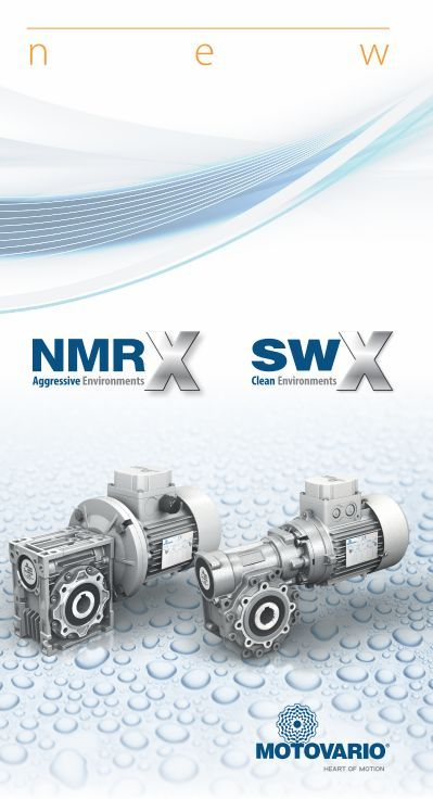 Motovario presents NMRX and SWX for humid, corrosive and hygienic environments