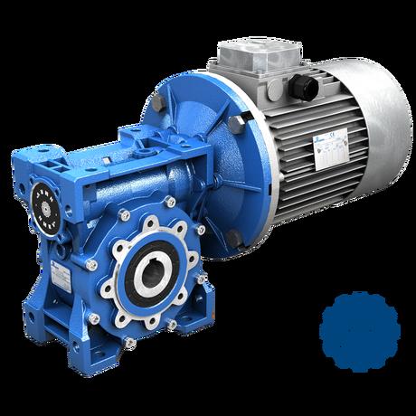涡轮蜗杆减速机,可与前置减速头组合相连。