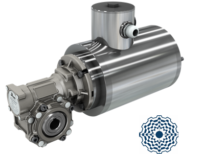 Worm gearboxes for aggressive environments and high hygiene requirements